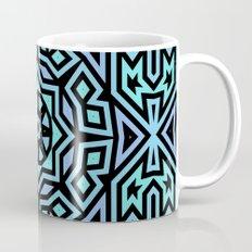 Aqua/Lilac/Black Tribal Pattern Coffee Mug