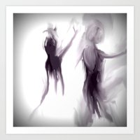 ballet Art Prints featuring Ballet by Jessielee