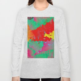 Abstract Paint Gradient Long Sleeve T-shirt