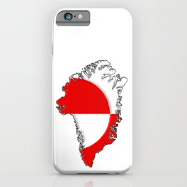 Greenland Map with Flag iPhone Case