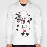lydia martin Hoodies featuring Lydia Deetz by Laura Pastor