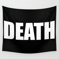 death Wall Tapestries featuring Death by Sinister Star