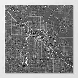 Youngstown USA Modern Map Art Print Canvas Print