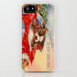 Christmas puppy iPhone Case