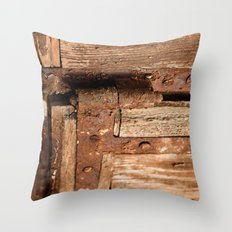 LOST PLACES - dusty rusty hinge Throw Pillow