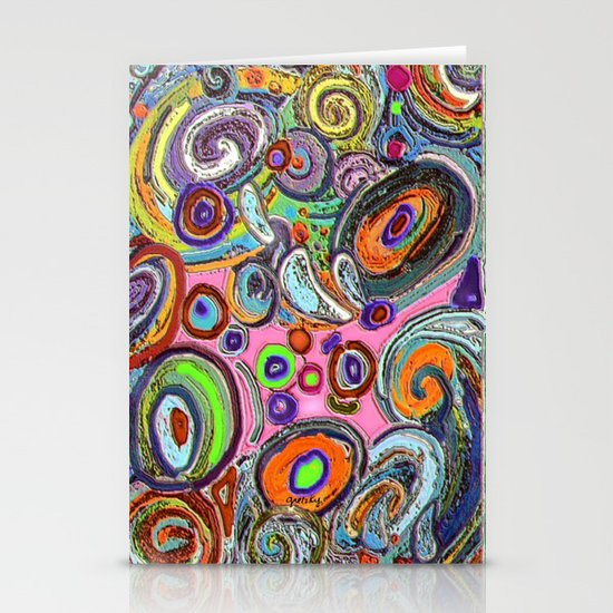 Abstracto Rocoso Stationery Cards