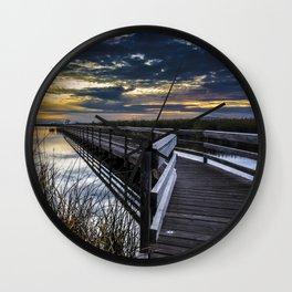 Farmington Bay Sunset - Great Salt Lake Wall Clock