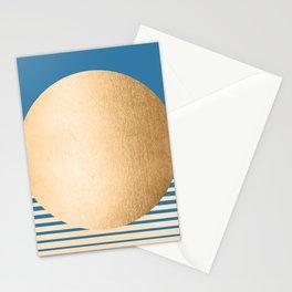 Sun Gradient - Orange Sherbet Shimmer on Saltwater Taffy Teal Stationery Cards