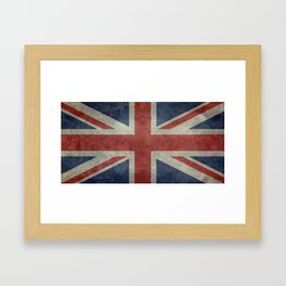 England's Union Jack flag of the United Kingdom - Vintage 1:2 scale version Framed Art Print
