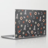 nautical Laptop & iPad Skins featuring Nautical by Schwebewesen • Romina Lutz