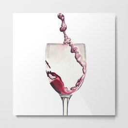 Relax, there's wine! Metal Print