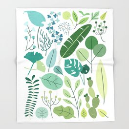 Botanical Chart Throw Blanket