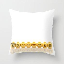 LEGO Yellow Heads Throw Pillow