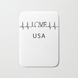 usa heartbeat. I love my favorite country. Bath Mat
