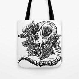 skeleton cat Tote Bag