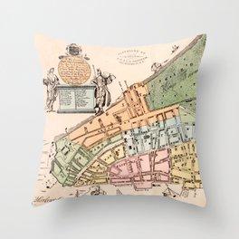 New York City 1728 Throw Pillow