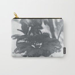 Bloom in Platinum Tone Carry-All Pouch