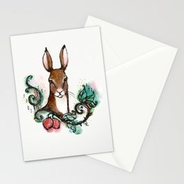 """""""The Fearless Hare"""" Magical Woodland Animals series 2 Stationery Cards"""