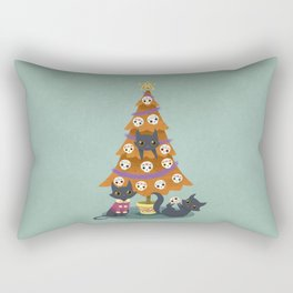 Meowy christmas sugar skulls Rectangular Pillow