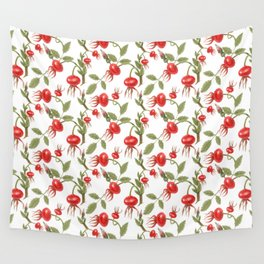 Wild Rose hips Wall Tapestry
