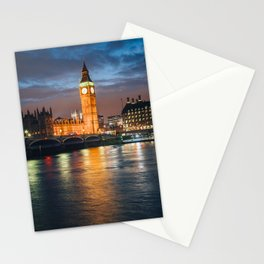 London after sunset Stationery Cards