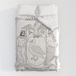 Made in Liverpool, ArtsGroupie Coat of Arms. Comforters