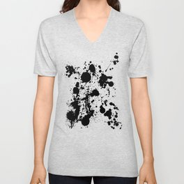 Ink spattered all over - Pattern #society6 #lifestyle Unisex V-Neck