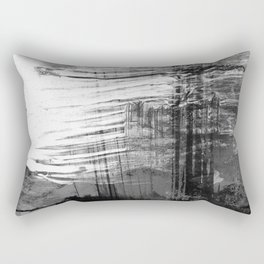 Spectral // black and white abstract ink painting Rectangular Pillow
