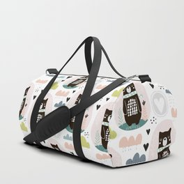 cats Prints patterns Duffle Bag