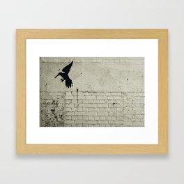2d bird in flight Framed Art Print
