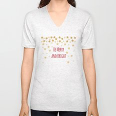 Be Merry and Bright Unisex V-Neck