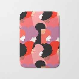Together Girl Power - Pattern #girlpower Bath Mat
