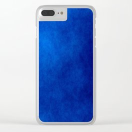 Misty Deep Blue Clear iPhone Case
