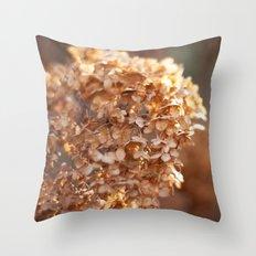 Winter Hydrangea III Throw Pillow