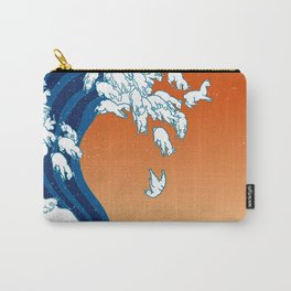 Llama Waves Carry-All Pouch