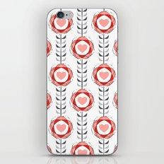 Heart Flowers iPhone & iPod Skin