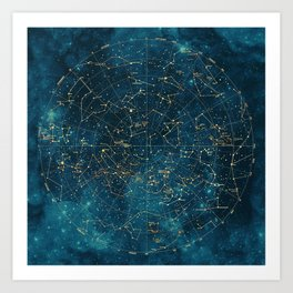Under Constellations Art Print