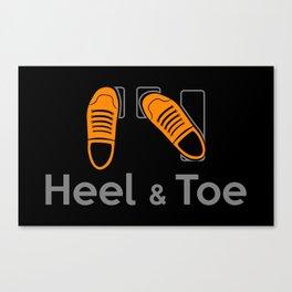 Heel & Toe Canvas Print