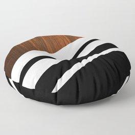 Wooden Black Floor Pillow