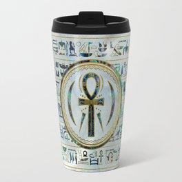 Abalone Shell Egyptian Ankh Cross symbol Travel Mug