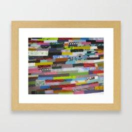 Glass strips Framed Art Print