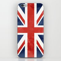 union jack iPhone & iPod Skins featuring Union Jack by Laura Ruth