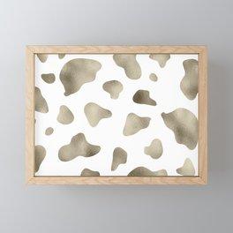 Golden cow hide print Framed Mini Art Print