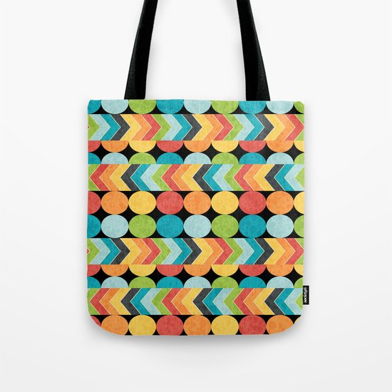 Retro Color Play Tote Bag