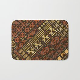 Ethnic African Pattern- browns and golds #5 Bath Mat