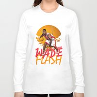 nba Long Sleeve T-shirts featuring NBA Legends: Dwyane Wade by Akyanyme