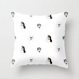 Sharon Needles pattern Throw Pillow