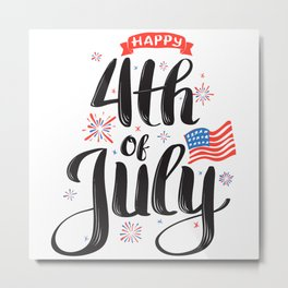 Happy 4th of July Celebration Metal Print