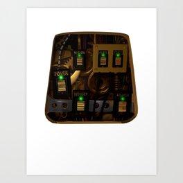 Zane's Chest Plate Art Print