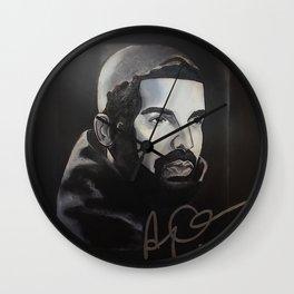 drake,scorpion album,ovo,rapper,colourful,colorful,poster,wall art,fan art,music,hiphop,rap,rapper Wall Clock